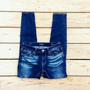 """Vigoss Jeans - Vigoss """"Chelsea"""" Destroyed Skinny Jeans"""